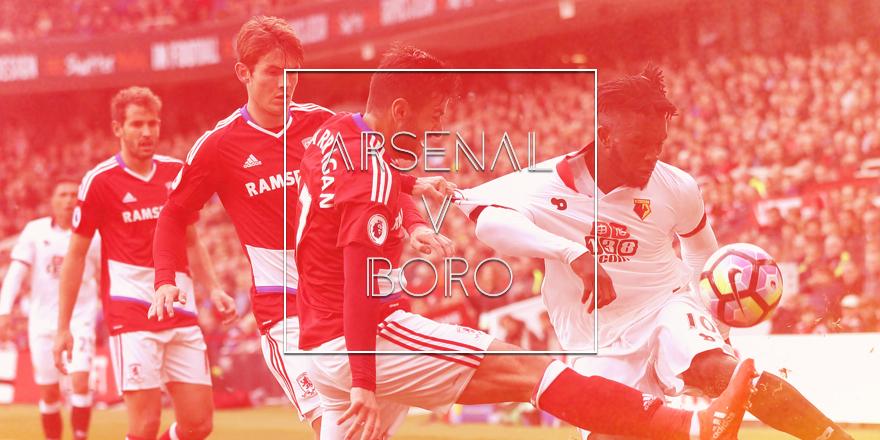 Arsenal v Middlesbrough FC Preview