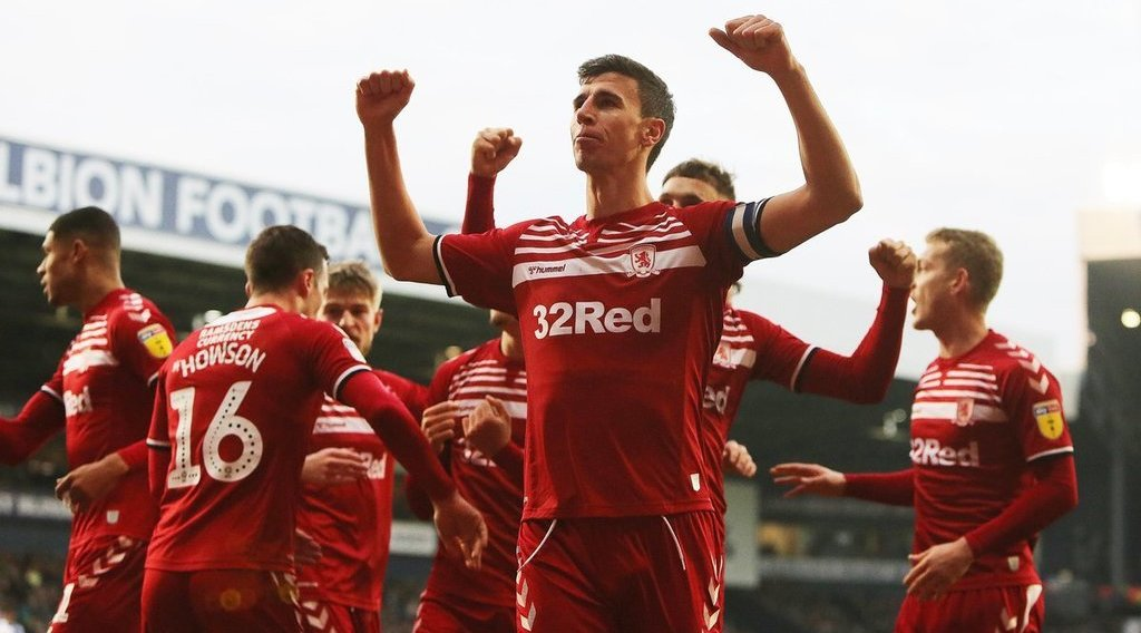 Middlesbrough end West Brom's 14-game unbeaten run with gritty victory
